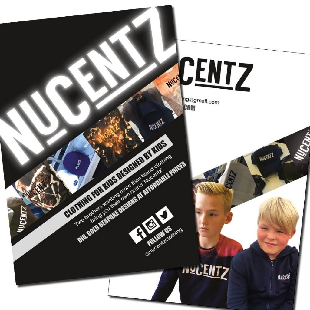 Clothing company leaflets