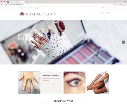Nurture Beauty Website