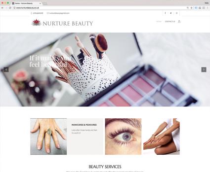 Nurture Beauty Website